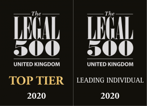 Legal 500 Top Tier Leading Individual