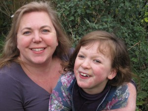 Samantha, who has cerebral palsy, with her mother Gail
