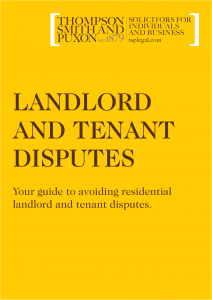 Guide to Avoiding Residential Landlord and Tenant Disputes