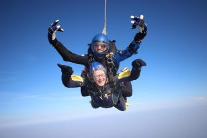Nicola Crisell Charity Skydive for Team Angus