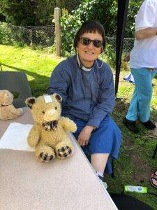 Revd Stephne van der Toorn at the Brantham Teddy Bear Parachute