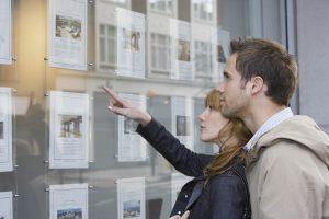 Looking in estate agents window