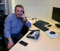 Colin at his desk