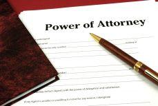 Power of attorney paperwork